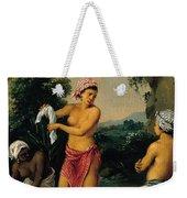 Three Caribbean Washerwomen By A River Weekender Tote Bag