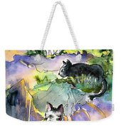 Three Cats On The Penon De Ifach Weekender Tote Bag