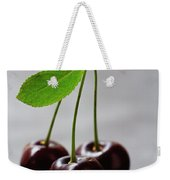 Three Cherries On A Stem Weekender Tote Bag