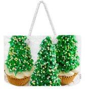 Three Christmastree Cupcakes  Weekender Tote Bag