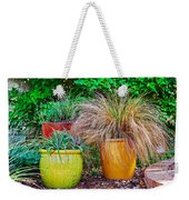 Three Colorful Pots Weekender Tote Bag
