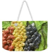 Three Colors Of Grapes Weekender Tote Bag