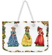 Three Cuties Weekender Tote Bag