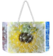 Three Dandelions In A Line Weekender Tote Bag