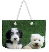 Three Diffferent Puppies Weekender Tote Bag
