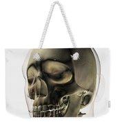 Three Dimensional View Of Human Skull Weekender Tote Bag by Stocktrek Images