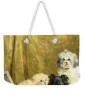 Three Dogs Weekender Tote Bag