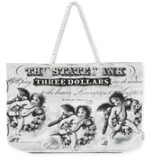 Three Dollar Bill, 1856 Weekender Tote Bag