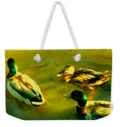 Three Ducks On Golden Pond Weekender Tote Bag