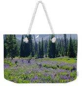 105417-three Fingered Jack And Wildflowers Weekender Tote Bag