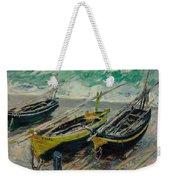 Three Fishing Boats Monet 1886 Weekender Tote Bag