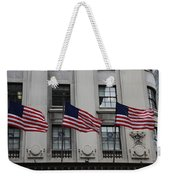 Three Flags Together On 5th Avenue Weekender Tote Bag