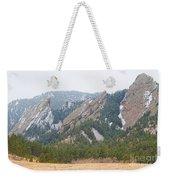 Three Flatirons Boulder Colorado Weekender Tote Bag