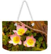 Three Flowers Weekender Tote Bag