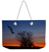 Three Geese At Sunset Weekender Tote Bag