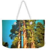 Three Giant Sequoias Digital Weekender Tote Bag