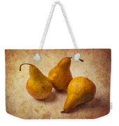 Three Golden Pears Weekender Tote Bag