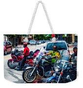 Three Guys On Bikes Weekender Tote Bag