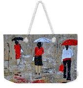 Three In The Rain Weekender Tote Bag