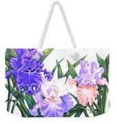 Three Irises Weekender Tote Bag