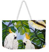 Three Is A Crowd Hand Embroidery Weekender Tote Bag