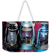 Three Kerosene Lamps Weekender Tote Bag