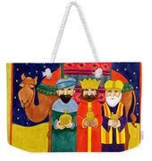 Three Kings And Camel Weekender Tote Bag
