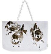 Three Little Birds Perch By My Doorstep Weekender Tote Bag