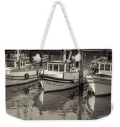 Three Little Boats Sepia Weekender Tote Bag