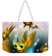 Three Little Fishies And A Mama Fishie Too Weekender Tote Bag