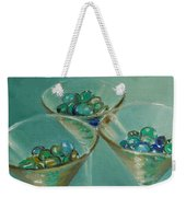 Three Martini Glasses With Jewels Weekender Tote Bag