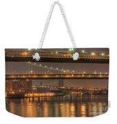Three New York Bridges Weekender Tote Bag