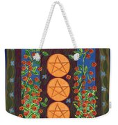 Three Of Pentacles Weekender Tote Bag