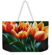 Three Orange And Red Tulips Weekender Tote Bag