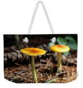 Three Orange Mushrooms Weekender Tote Bag