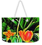 Three Orange Parrots  Weekender Tote Bag
