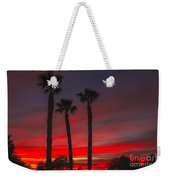 Three Palm Sunset Weekender Tote Bag
