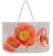 Three Peach Poppies Weekender Tote Bag