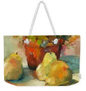 Three Pears And A Pot Weekender Tote Bag