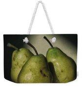 Three Pears Green Weekender Tote Bag