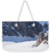 Three People Ski-tour On Karale Glacier Weekender Tote Bag