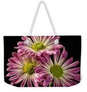 Three Pink Flowers Weekender Tote Bag