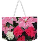 Three Pink Poinsettias Weekender Tote Bag