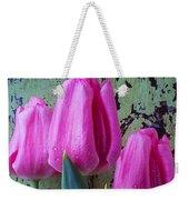 Three Pink Tulips Weekender Tote Bag