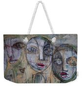 Three Portraits On Paper Weekender Tote Bag