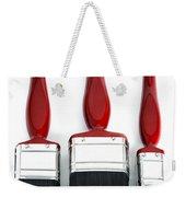 Three Red Paint Brushes Weekender Tote Bag