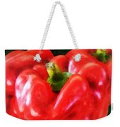 Three Red Peppers Weekender Tote Bag