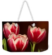 Three Red Tulips Weekender Tote Bag