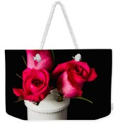 Three Roses Weekender Tote Bag