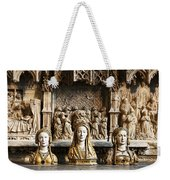 Three Saints In Marble Weekender Tote Bag